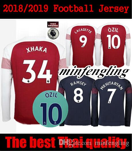 cc1738ddb Best 18 19 Arsenal Long Sleeve Soccer Jersey Home Away 2018 2019 Football  Uniform Jersey Soccer Jersey Long Jersey Online with  20.12 Piece on  Minfengling s ...