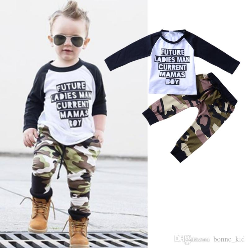 389aaedf6 2019 Newborn Toddler Baby Boy Clothes Long Sleeve Patchwork Top + ...