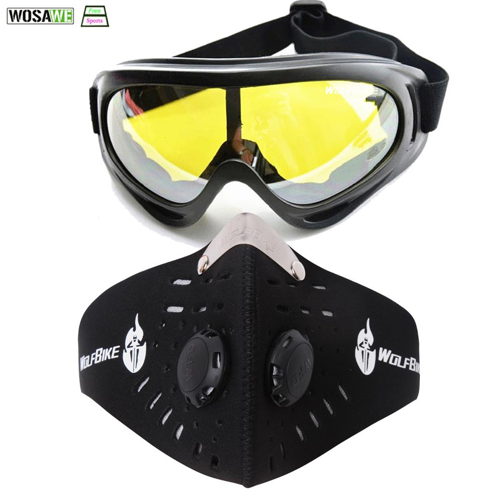 9a1ff744fc6 2019 WOSAWE Ski Snowboard Face Mask Winter Snowmobile Goggles Windproof  Skiing Glasses Motocross Cycling Glasses With Mouth Filter From Cbaoyu