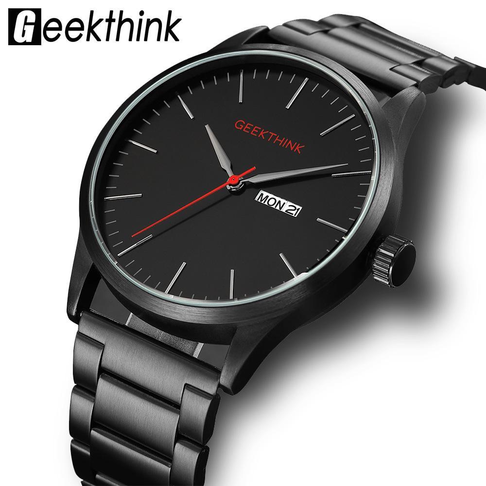 a4bb2cbdabf6 Compre Geekthink Japón Relojes De Cuarzo Moda Casual De Lujo Para Hombre De  Primeras Marcas Reloj Masculino Fecha Diseñador Analógico Reloj De Pulsera  A ...