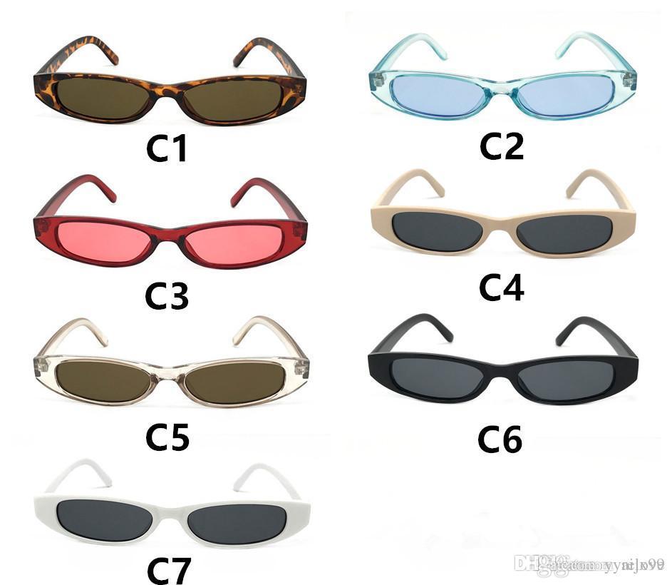 ec2116d635e 2018 Hot Small Narrow Frame Sunglasses Women Brand Designer Vintage ...
