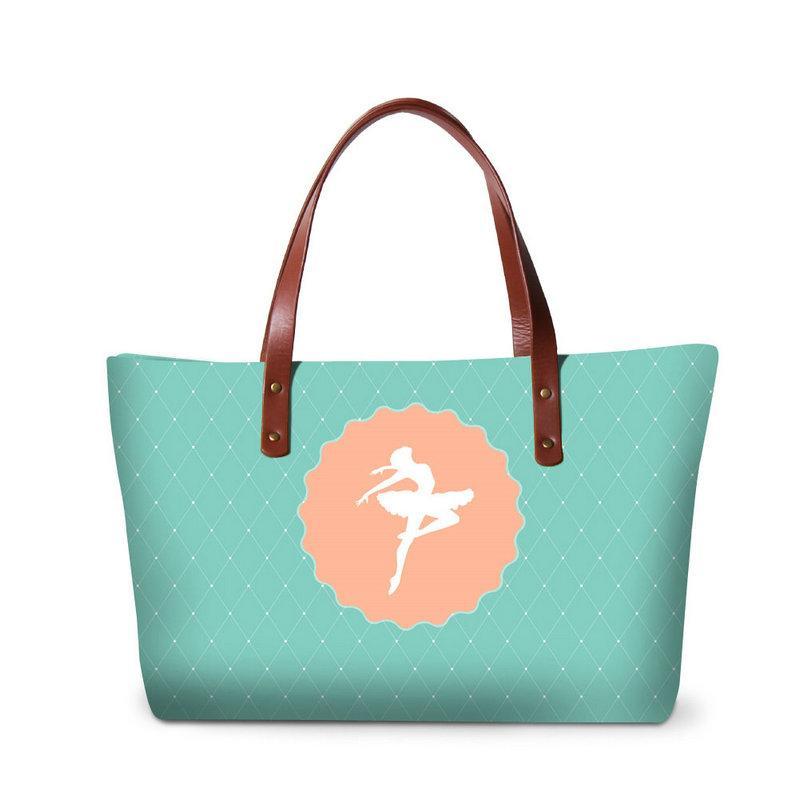 bf9936a1aeeb8 Light Green Handbag For Teenager Girls Large Tote Bag Side Bag For Women  Artstic Over The Shoulder Bags Ballet Design Ladies Messegner Bag Totes Bags  ...