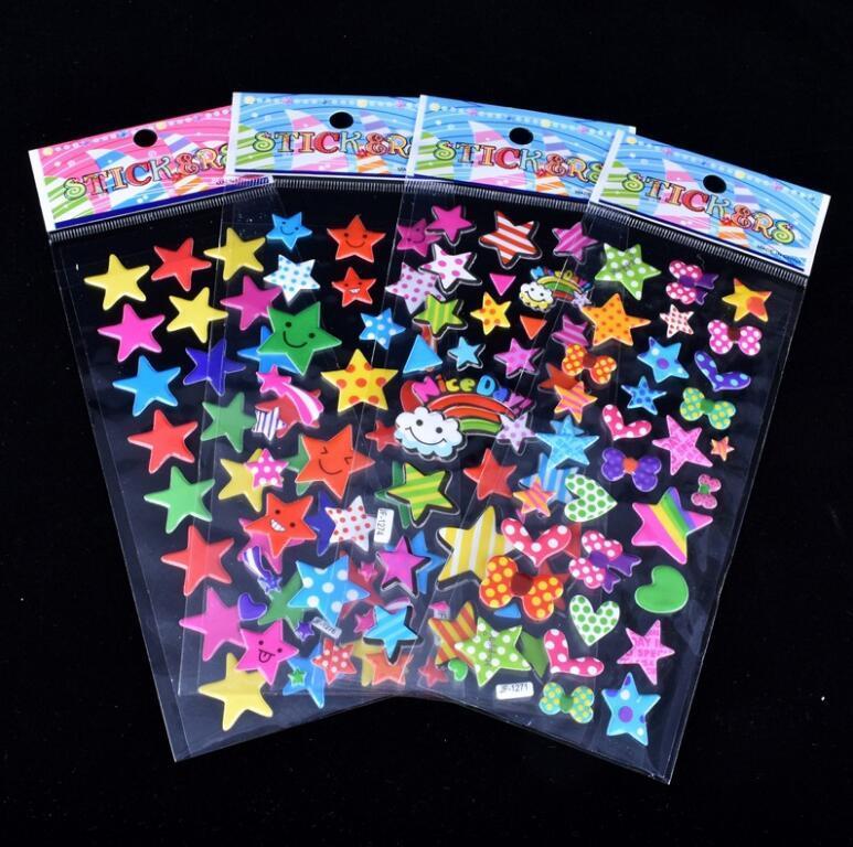 Più design Adesivi 3D fumetto 7 * 17 cm partito Adesivi libro decorativo carta gioco Giocattoli bambini regalo spedizione gratuita