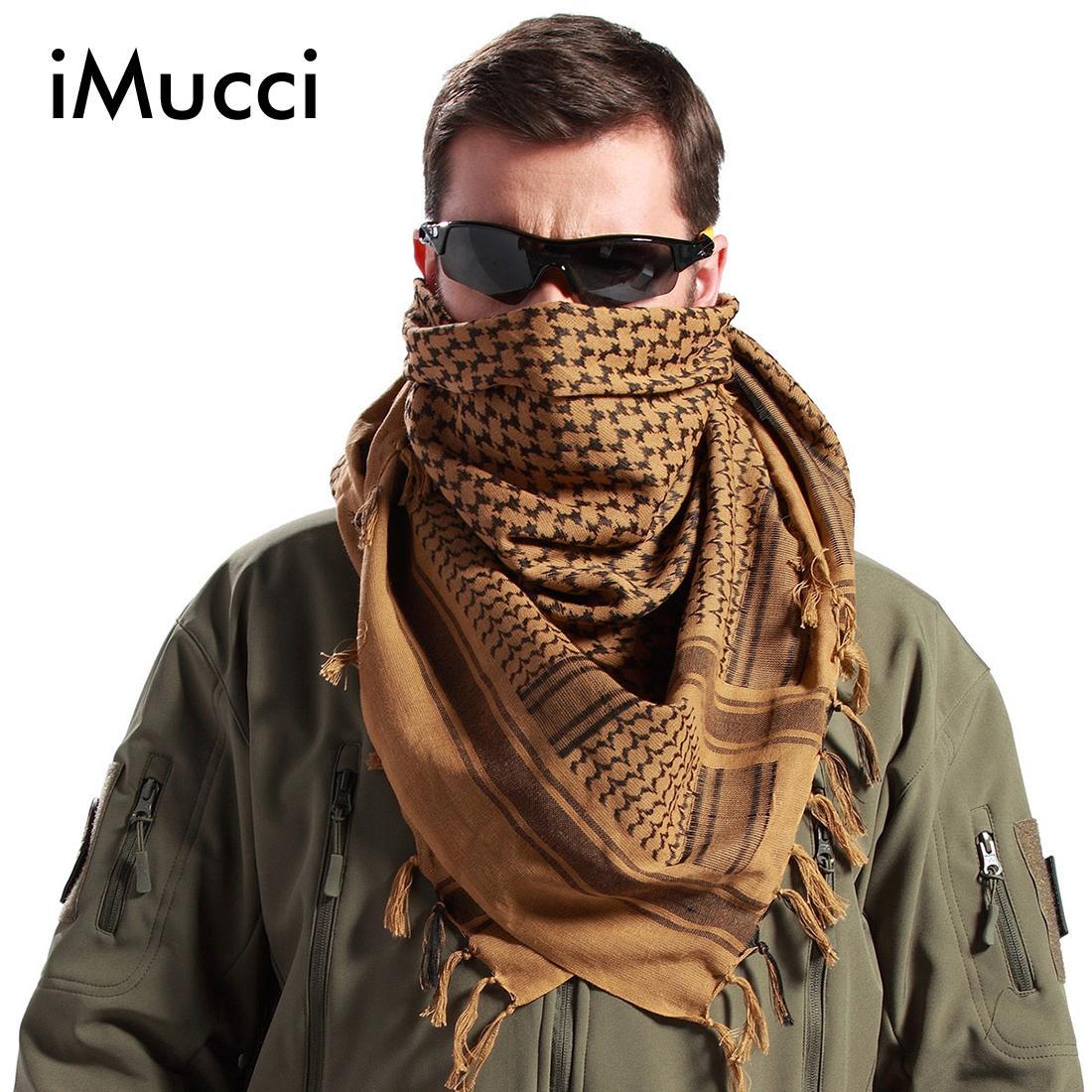 c915899e85b Acheter IMucci Hommes Hiver Militaire Coupe Vent Écharpe Musulman Hijab Shemagh  Tactique Châle Arabe Keffieh 100% Coton De Mode Femmes Foulards D18102904  De ...
