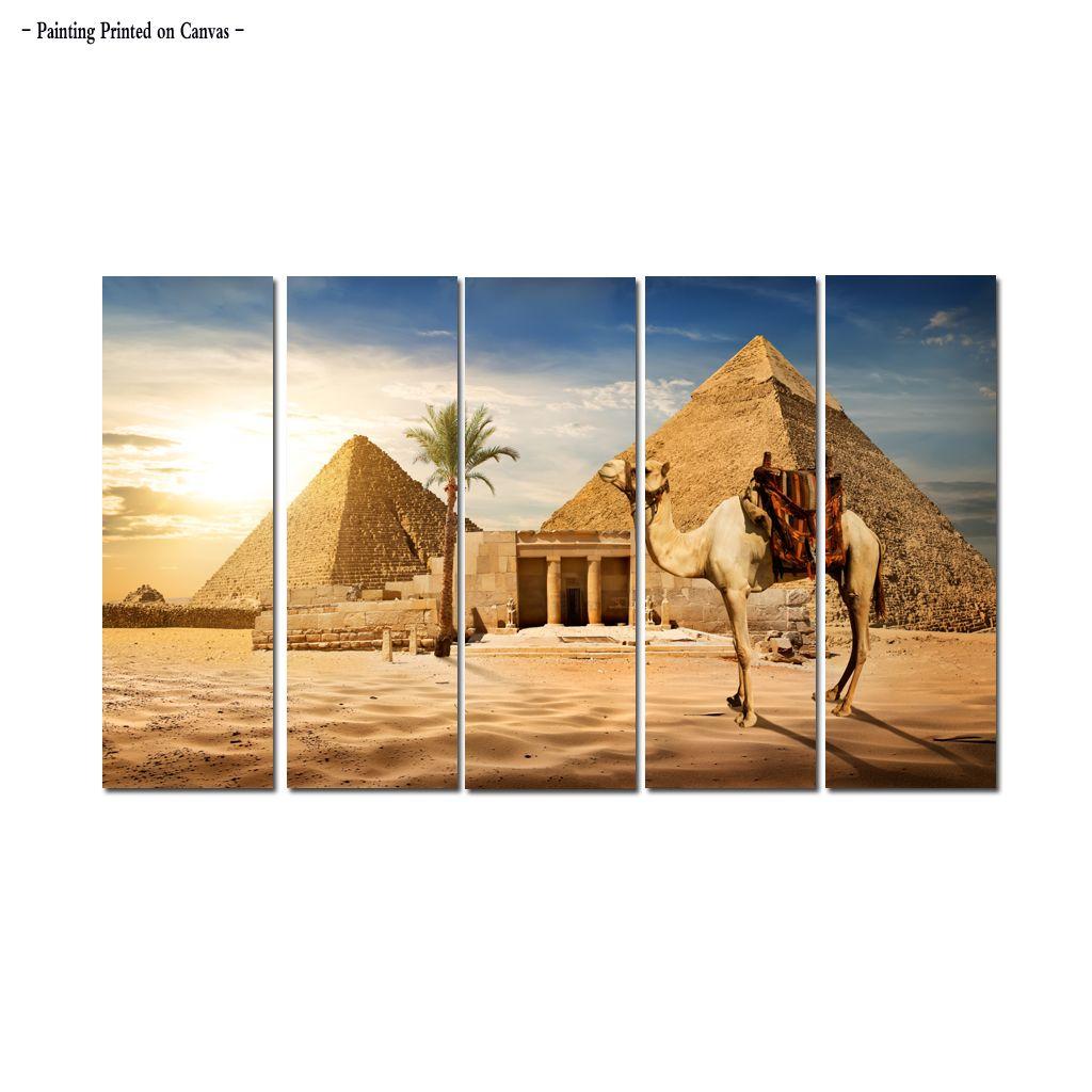 Satın Al Büyük çağdaş Duvar Sanatı Mısır Piramit Manzara Boyama