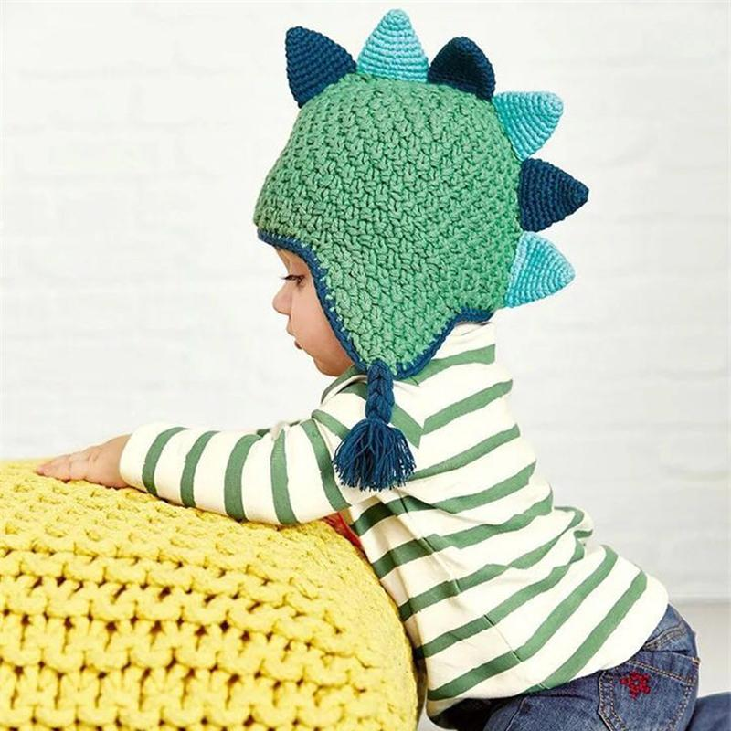 2019 Knitted Cotton Hat Newborn Baby Hat Dinosaur Boy Cap Toddler Girl  Animal Style Warm Photography Bonnet Touca Chapeau Enfants From Roohua c01dd531b58