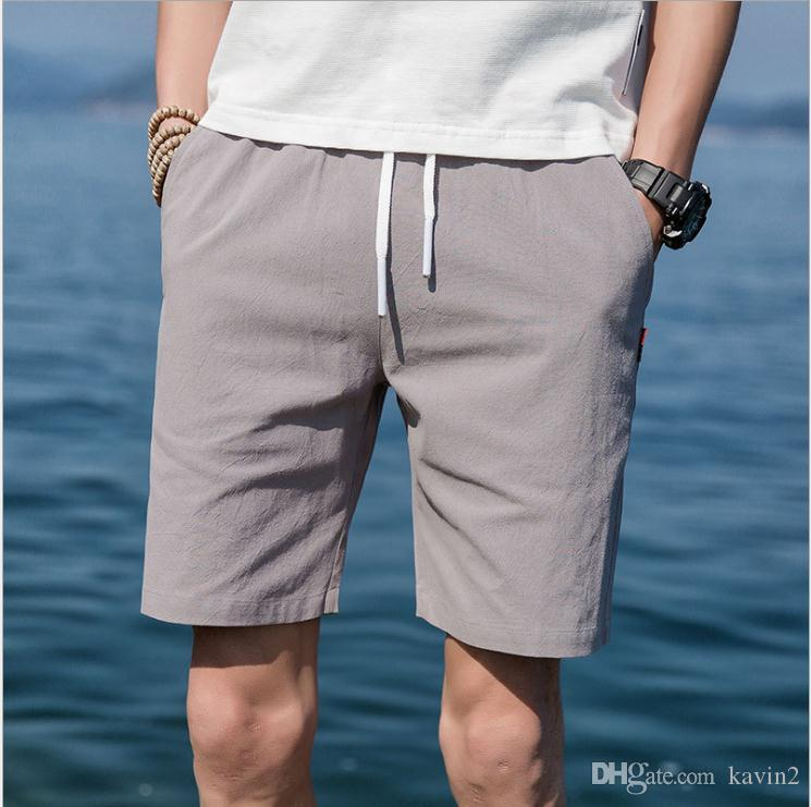 856ff86083e 2019 High Quality 2018 Summer Men S Casual Shorts Drawstring Teenager  Fashion Homme Cotton Men S Joggers Short Trousers Plus Size 5XL From  Kavin2