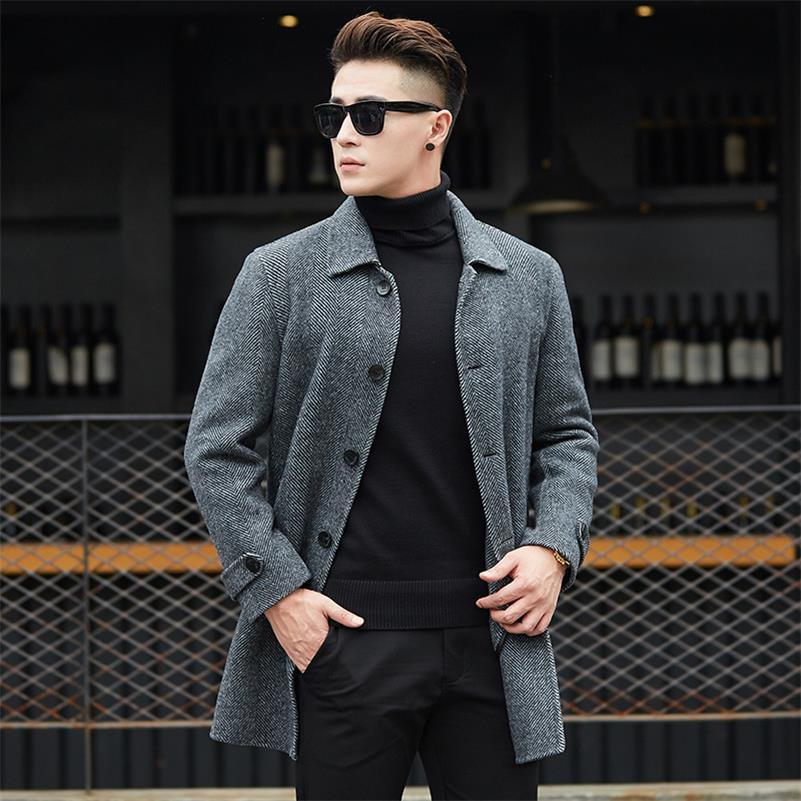 ca77d0483cef 2019 Classic Autumn Winter Casual Men Wool Coats Warm Jackets Slim Single  Button Outwear Solid Overcoats 4 Style Choose Size M 3XL From Piaocloth