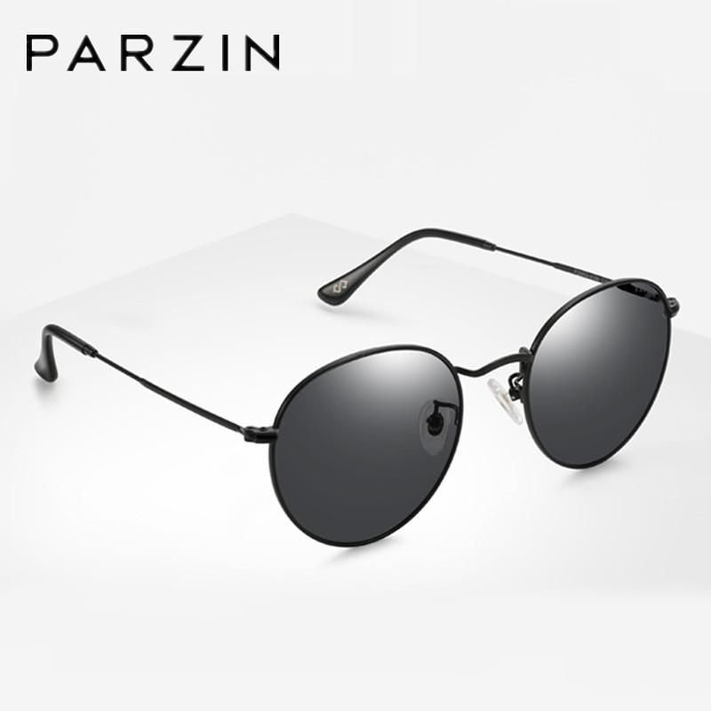 849e70f4faa1 PARZIN Classic Polarized Sunglasses Men Brand Designer Vintage Round Sung  Glasses For Driving Anti UV Anti Glare Shades 8186 Wiley X Sunglasses Mirror  ...