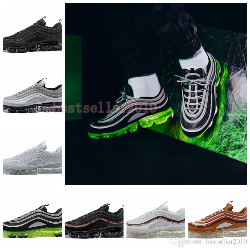 2018 New 97 Ultra Running Shoes Mens Womens Trainers Air Sole Japan Silver  Gold Bullet Triple White 97s Sports Designer Sneakers 36 46 Running  Sneakers ... a68269296c