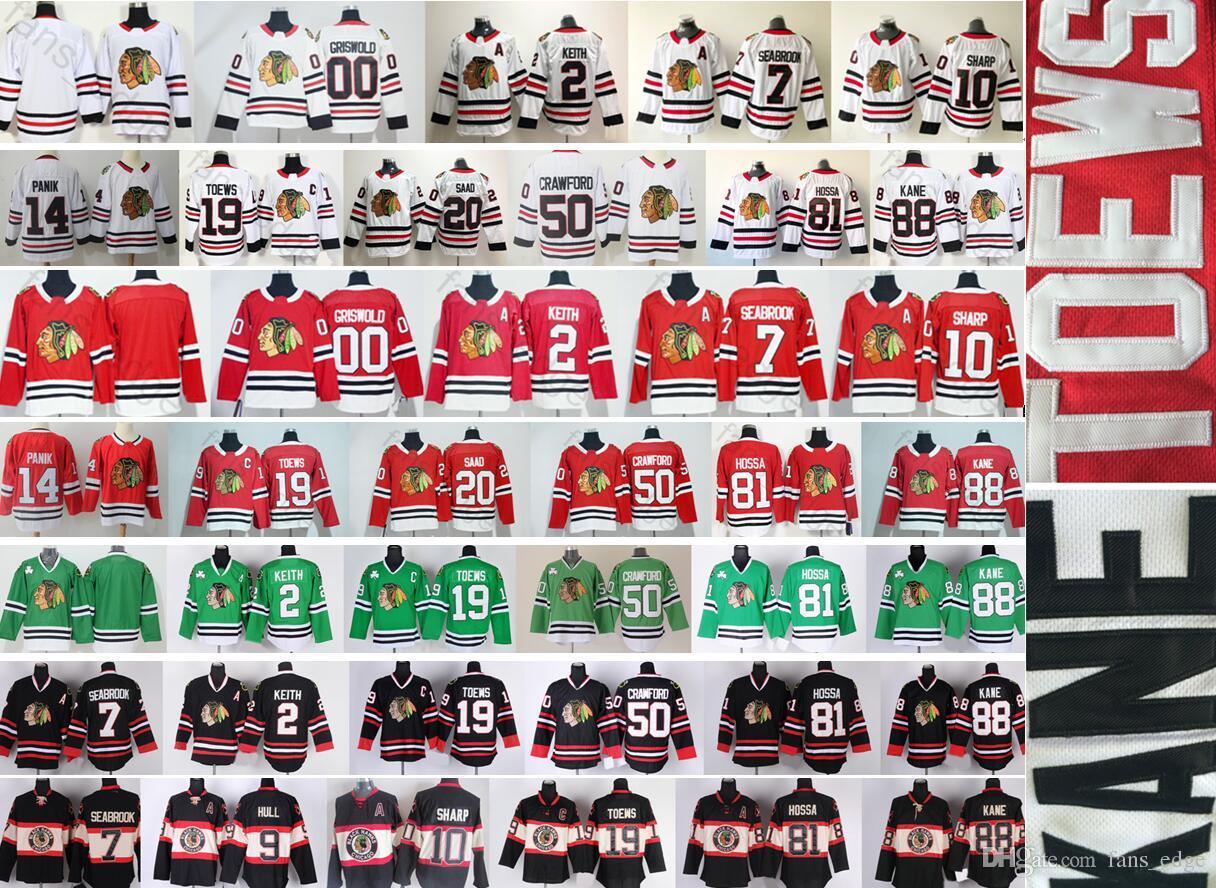 Chicago Blackhawks Hockey 19 Jonathan Toews 88 Patrick Kane 8 Duncan ... c06e87d2cd3cb