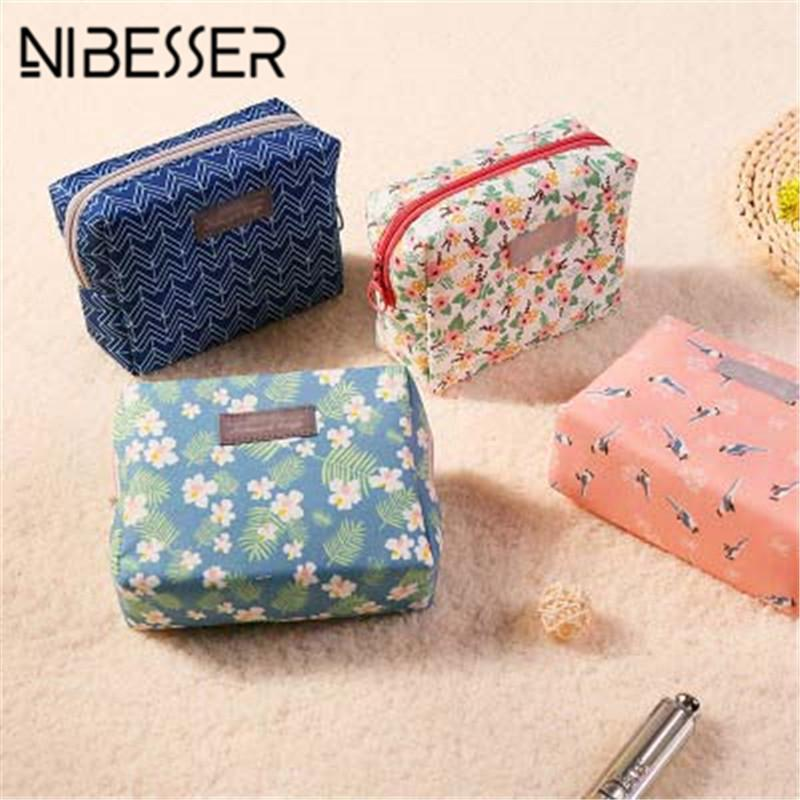 Sweet Floral Cosmetic Bag Travel Organizer Portable Beauty Pouch Toiletry Kit Mini Purse Makeup Pouch Make Up Wash Bag