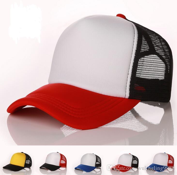 9c287094ed8 Plain Mesh Baseball Caps For Adults Mens Womens Blank Trucker Cap ...