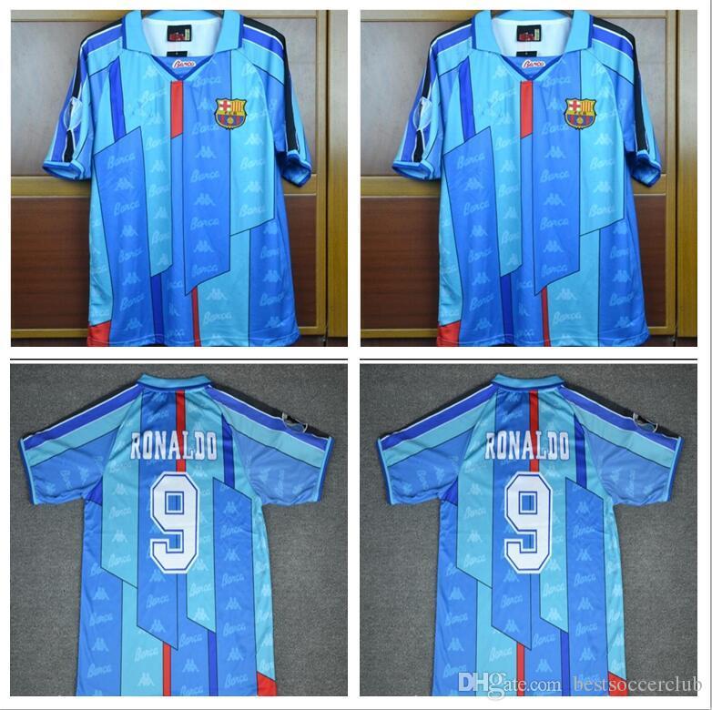ad5355b94 2019 96 97 Ronaldo Home Away Blue Jersey Retro Soccer Jersey 1996 1997  Ronaldo Classic Football Shirt Calcio MAGLIA Maillot Camisa De Futebol From  ...
