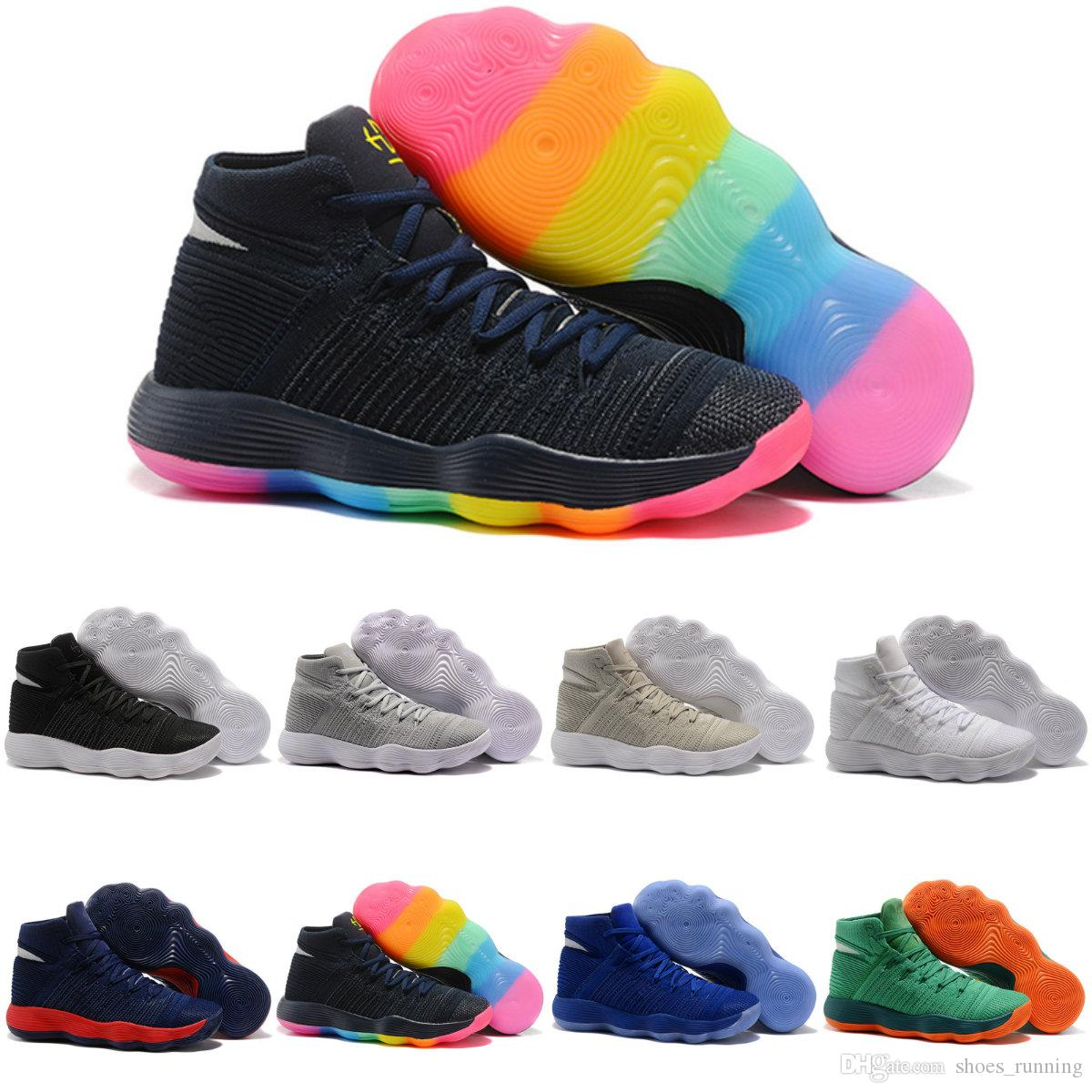 ee4590cbc4d7 Hyperdunk 2017 Knit Style Mens Basketball Shoes Trianing Sports Sneakers  Hyperrev Outdoor Trainer Shoes Sneaker Green Blue 40 46 With Box Shoes For  Sale ...
