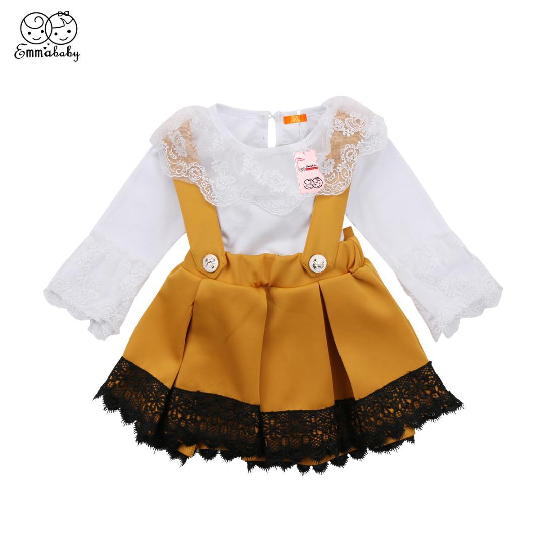 7533a82a6b70 Fashion Kid Baby Girls Lace Romper Party Bowknot Dresses Outfits Set ...