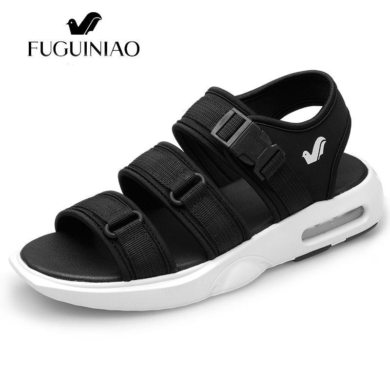 f6e9eb86c036f Fashion Air Cushion Casual Men Sandals Summer Male Beach Shoes Leisure  Sandalias Zapatos Hombrez Breath Sapato Masculino Slides Cheap Shoes Wedge  Sneakers ...