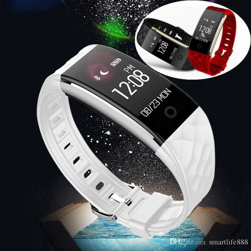 1e3f16094f0 Compre S2 Inteligente Pulseira Relógio De Freqüência Cardíaca Anti ...