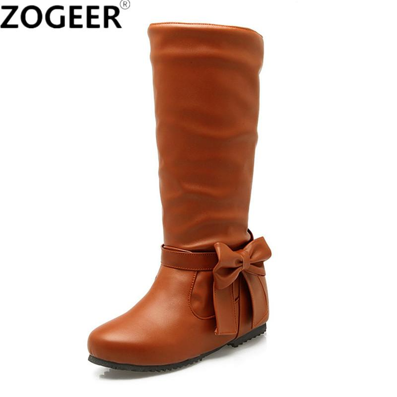 dbbbe41676e Plus Size 48 Hot 2018 Spring Autumn Women Boots Fashion Casual Low Heels  Knee High Boots Black Height Increasing Ladies S Shoes Combat Boots For  Women Sexy ...