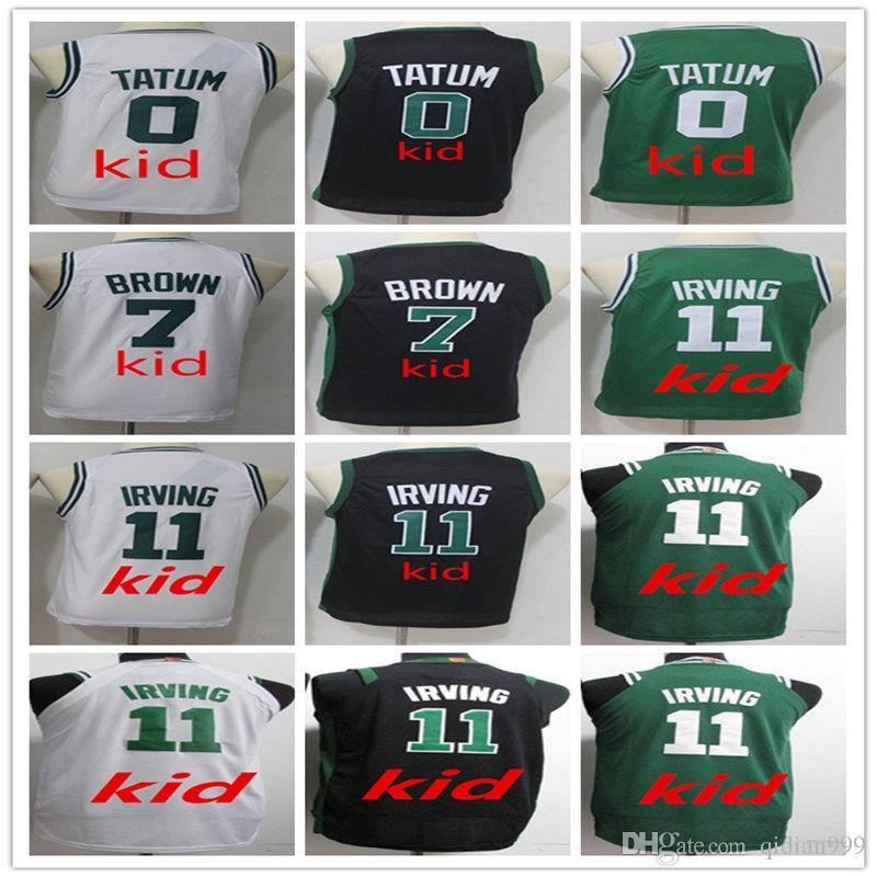 58a3c7472 NCAA 2018 Man Fans Youth Kid s Shirt 11  Irving 7  Jaylen Brown 0 ...
