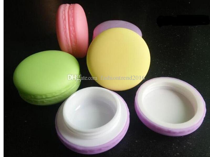 Caramelle estive color plastica Scatola riutilizzabile Macaron Style Vaso di crema rotondo 5g / 10g contenitori cosmetici vuoti Rossetto Balsamo labbra