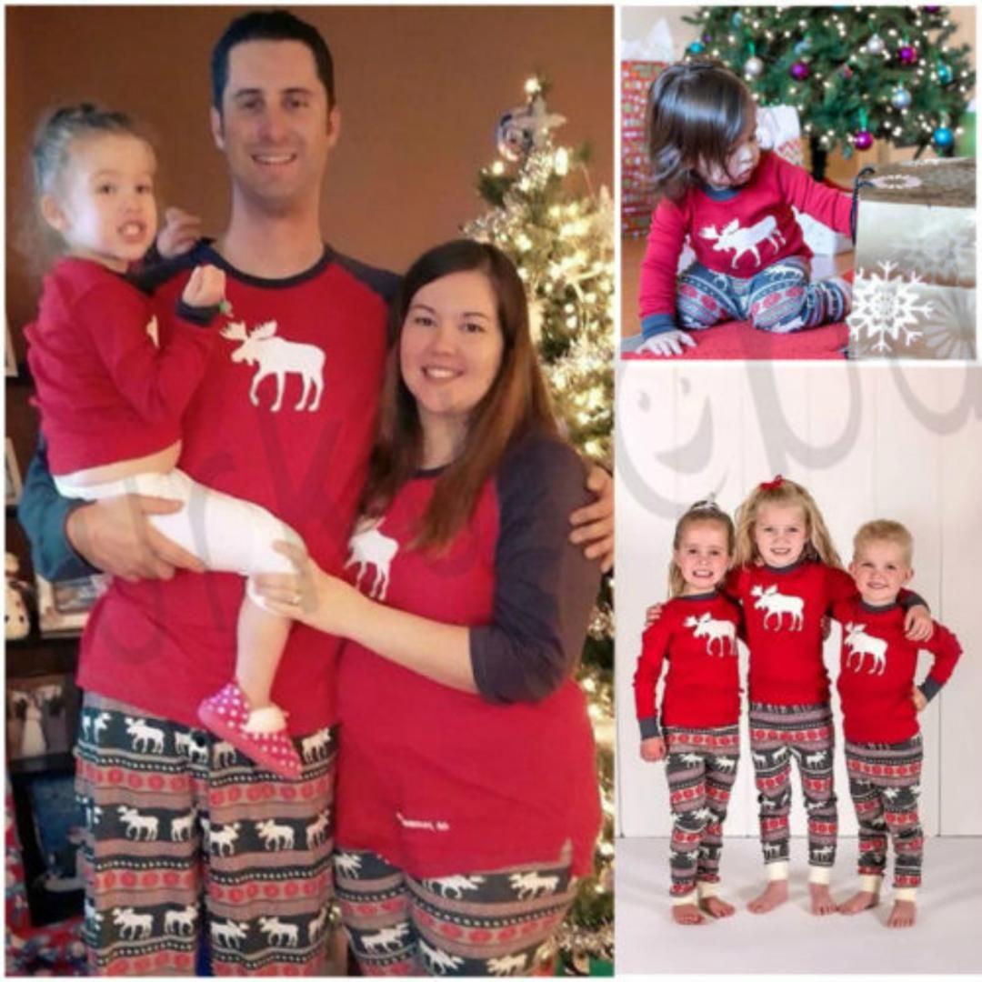 Family Christmas Pajamas 2019 Uk.2018 New Brand Newest Family Matching Christmas Long Sleeve Striped Casual Pajamas Sets Xmas Sleepwear Nightwear