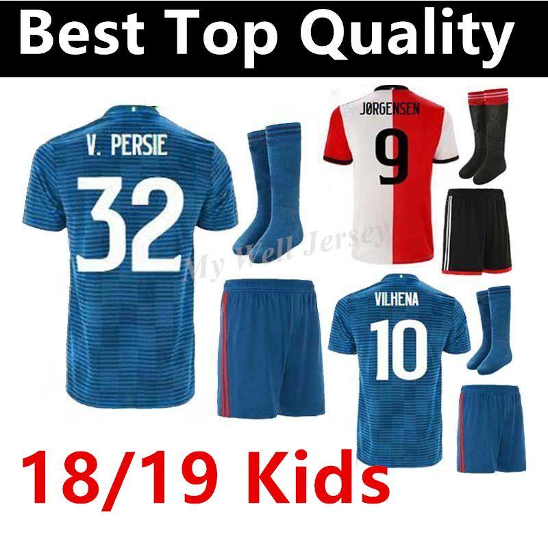 2019 18 19 Feyenoord KIDS Soccer Jerseys With Socks 11 LARSSON 32 V.PERSIE  19 BERGHUIS 10 VILHENA Kids Football Kits 2018 19 From Mwe5281968 aed24f7f4