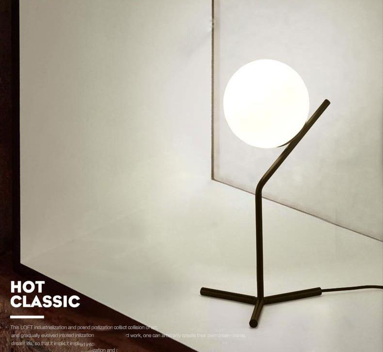 2018 Modern Simple Glass Ball Table Lamp For Living Room Northern Europe  Minimalism Desk Light With Black Stand From Kirke, $97.33 | Dhgate.Com