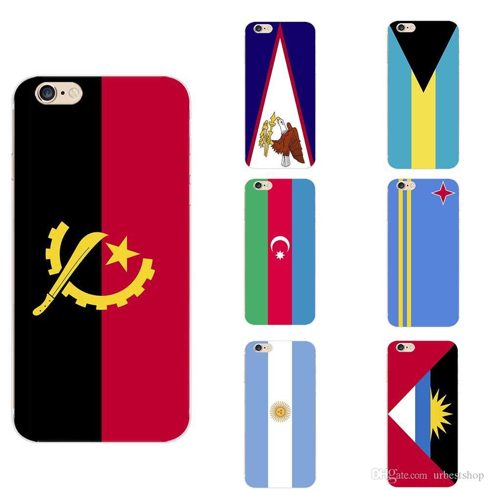 75179439af7 Personalizar Carcasas Samoa Americana Angola Antigua Y Barbuda Argentina  Aruba Azerbaiyán Tema De La Bandera Nacional De Bahamas Fundas De Teléfonos  TPU ...