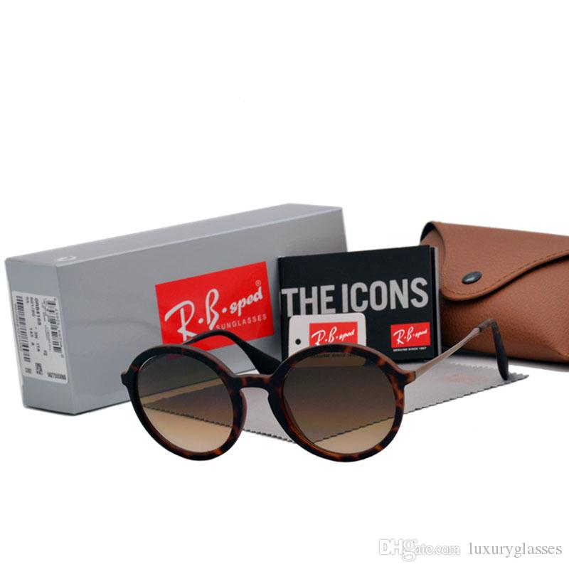 984954e6801bc Compre Aaa + Marca De Luxo Qualidade Superior Retro Rodada Óculos De Sol  Das Mulheres Dos Homens Marca Designer De Lente De Vidro Moda Masculina  Feminino ...