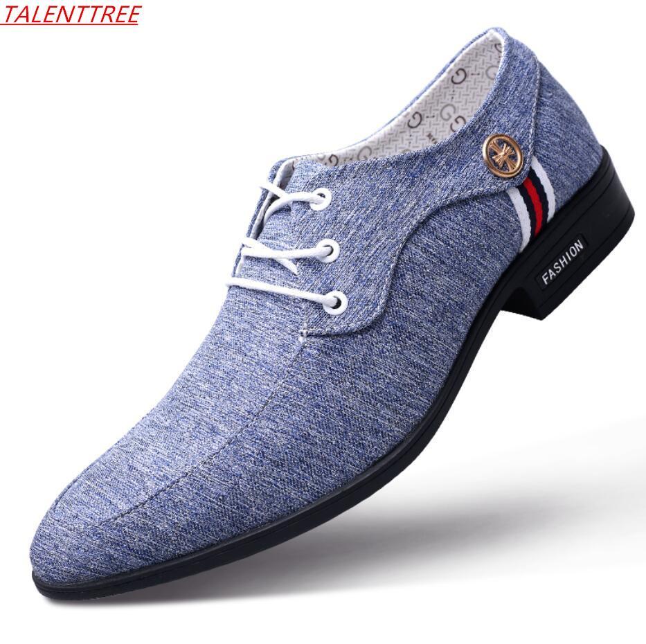 super popular 3ab48 94c4e Büro Herren Kleid Anzug Schuhe italienischen Stil Hochzeit Freizeitschuhe  Männer Derby Mann atmungsaktive Leinwand Leder Zapatos Hombre