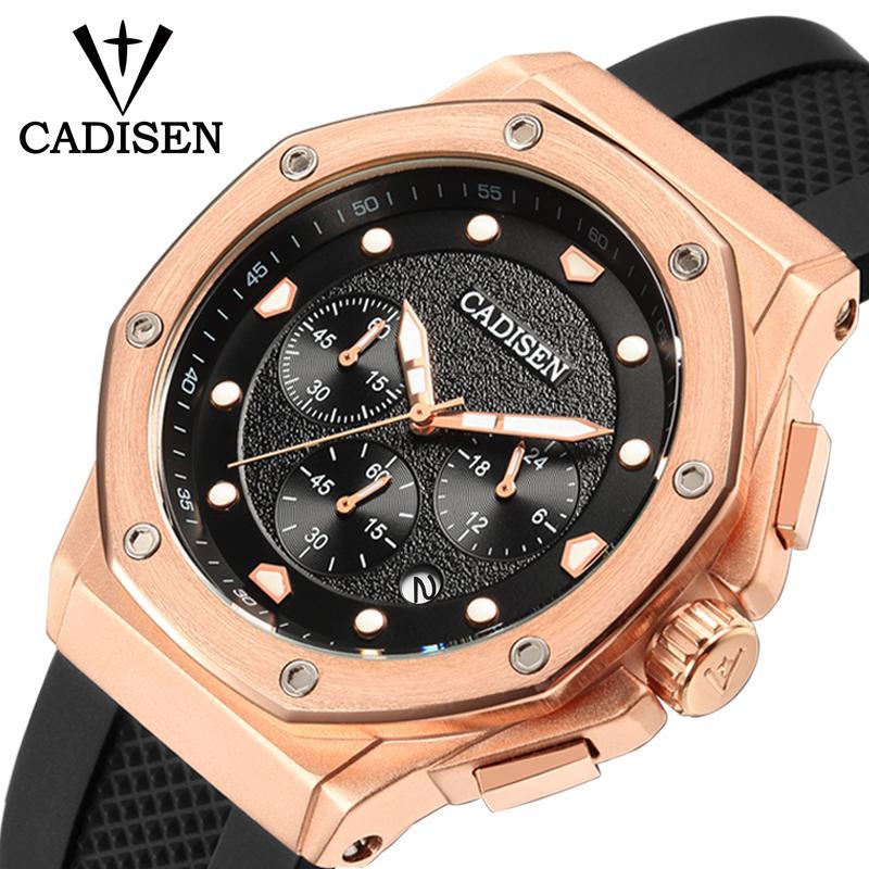 0f965420c4152d Acquista CADISEN Mens Watch Sport Cronografo Cinturino In Silicone Quarzo  Esercito Militare Orologi Orologio Uomo Marchio Di Lusso Maschile Relogio  ...