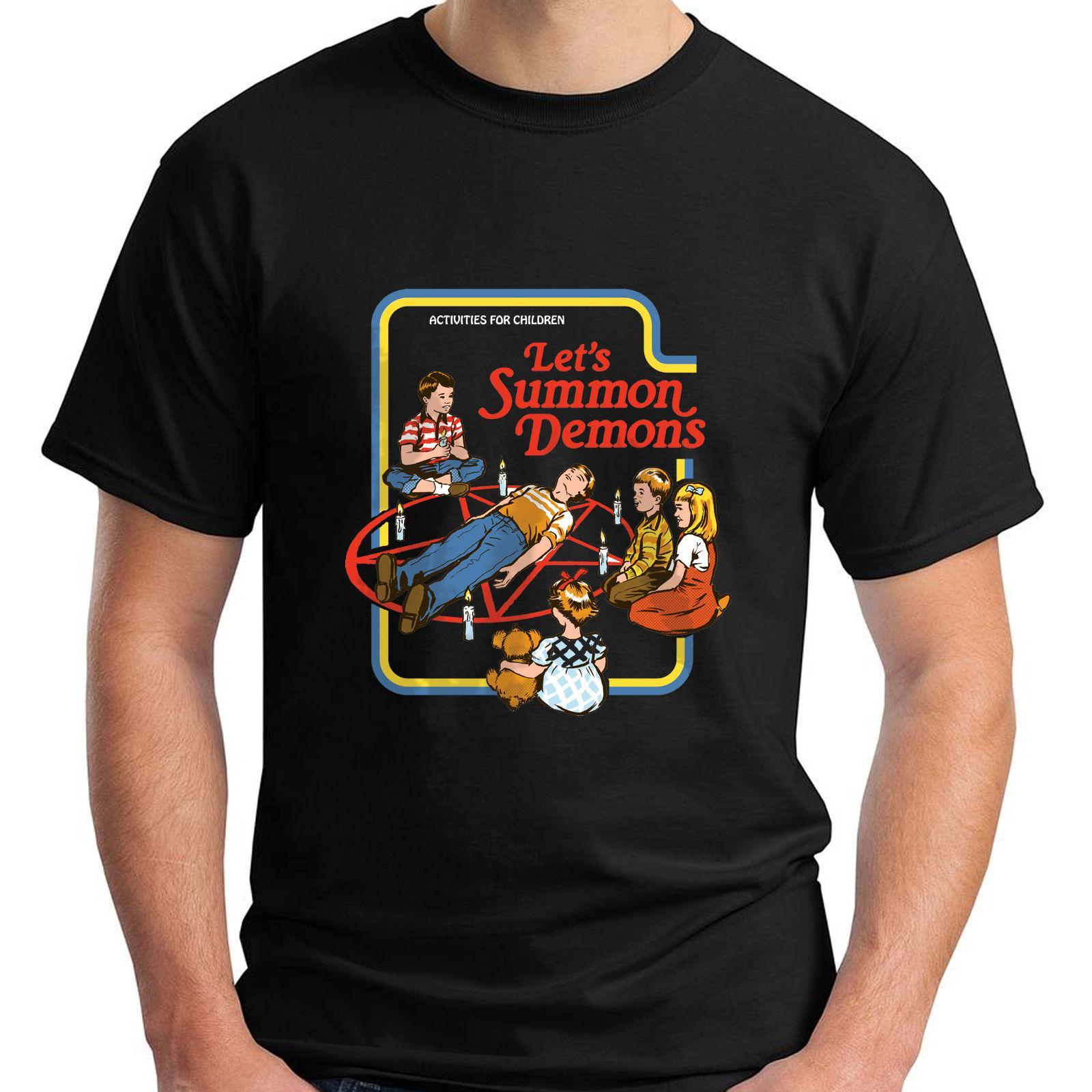 7545786f8e83 Großhandel Neue Lets Summon Demons Kurzarm Schwarz Herren T Shirt Größe S  3xl Toller Rabatt Baumwolle Männer T Shirt Mens Fashion Men Von Clothfirst,  ...