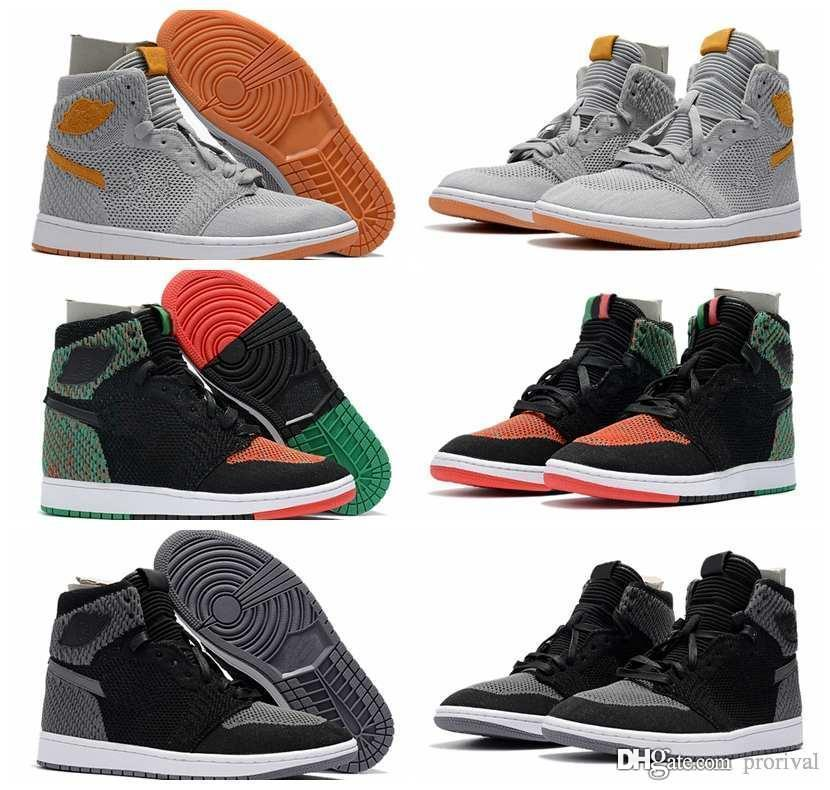 5b53b5f22d2f 2018 New BHM Men Knit Weave Basketball Shoes 1s Shadow Black Wolf Grey  Outdoor Mens Trainers Sports Sneakers Size US 7-13 Basketball Shoes 1s Men  Shoes ...