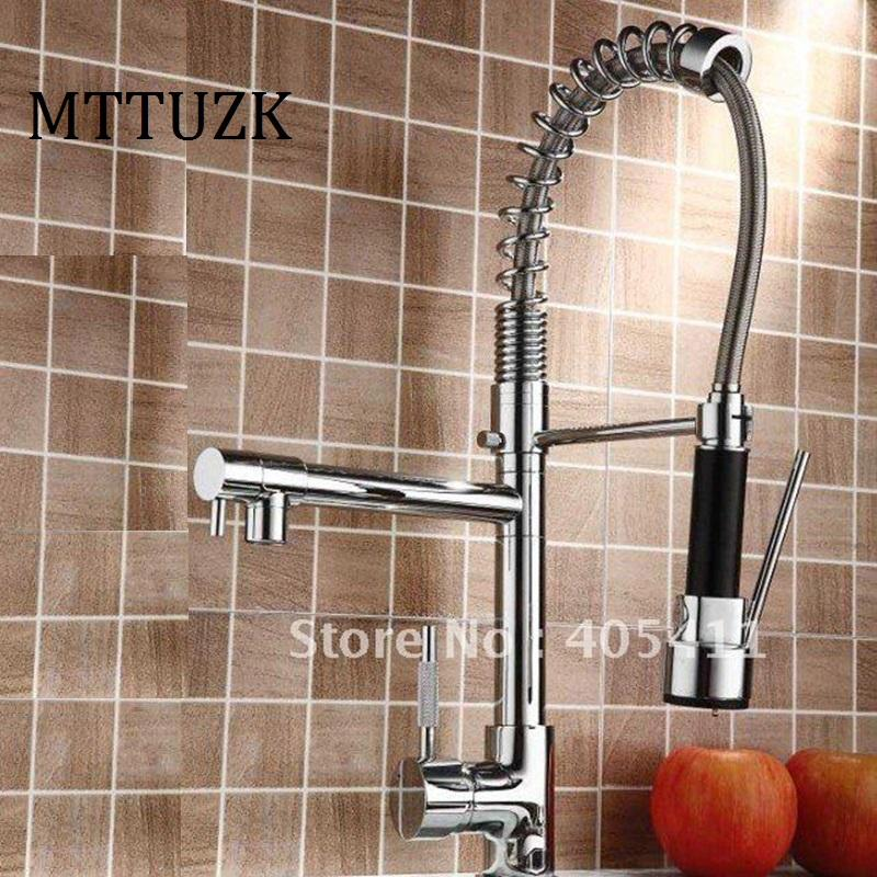 2019 Mttuzk Factory Direct Sale Pull Out Kitchen Faucetsolid Brass