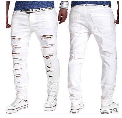 a455d80140ddc1 Acquista 2017 Nuovo Tipo Di Pantaloni Casual Da Uomo Rotto Moda Uomo Puro  Colore Lungo Pantaloni Casual Vendite Dirette Della Fabbrica A $14.42 Dal  ...