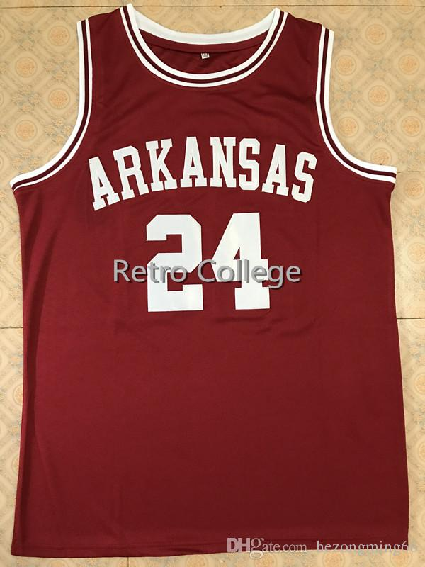 3b32ba6a1  24 Joe Johnson Arkansas Razorbacks College Basketball Jersey Retro Stitched  Embroidery Customize Any Size And Name Online with  48.51 Piece on ...