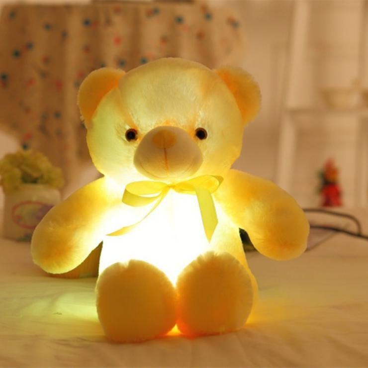 30 cm 50 cm Colorido Brilhante Urso de Pelúcia Luminosa Brinquedos de Pelúcia Kawaii Light Up LED Urso de Pelúcia Boneca de Pelúcia Crianças Brinquedos de Natal
