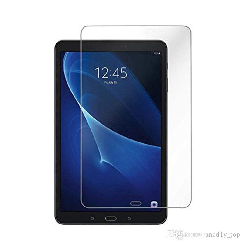 Ausgeglichenes Glas Schutzfilm für Galaxy T380 T385 T560 T580 T280 Tab S3 9.7 T820 T825 S4 10.5 T830 835 Tablet PC mit Staubabsorptionstuch