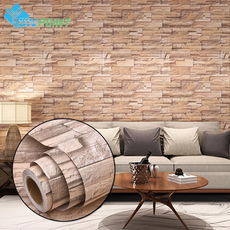40eb76d558e25 Compre 3 M   5 M Vinilo Moderno Papel Tapiz Autoadhesivo PVC Piedra  Impermeable Wallpapers Gris Blanco Ladrillo Pegatinas De Pared Para El  Dormitorio ...