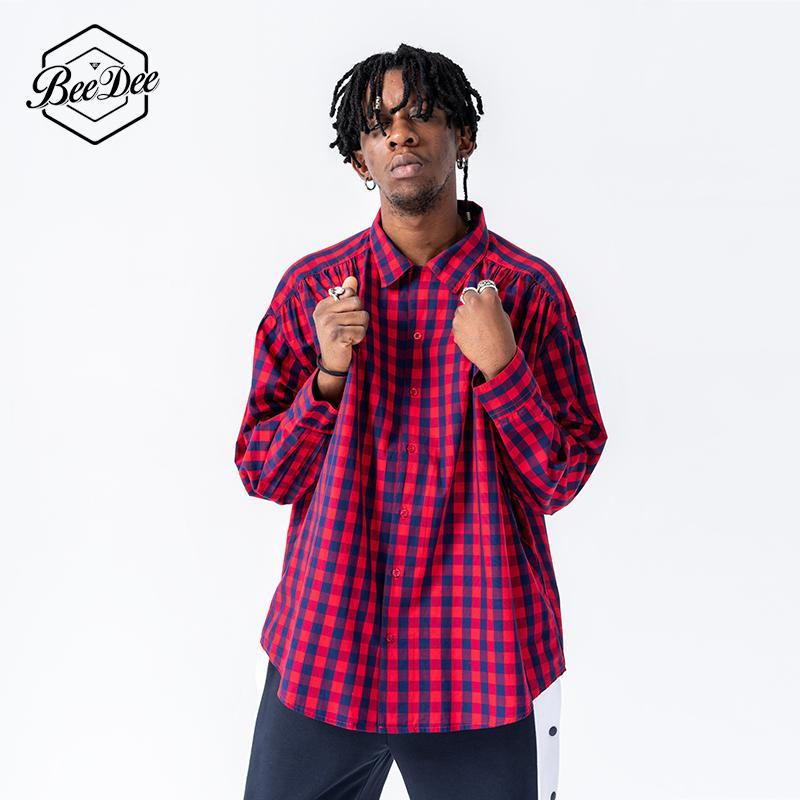 Acheter Beedee Hommes Chemises A Carreaux 2018 Homme Streetwear