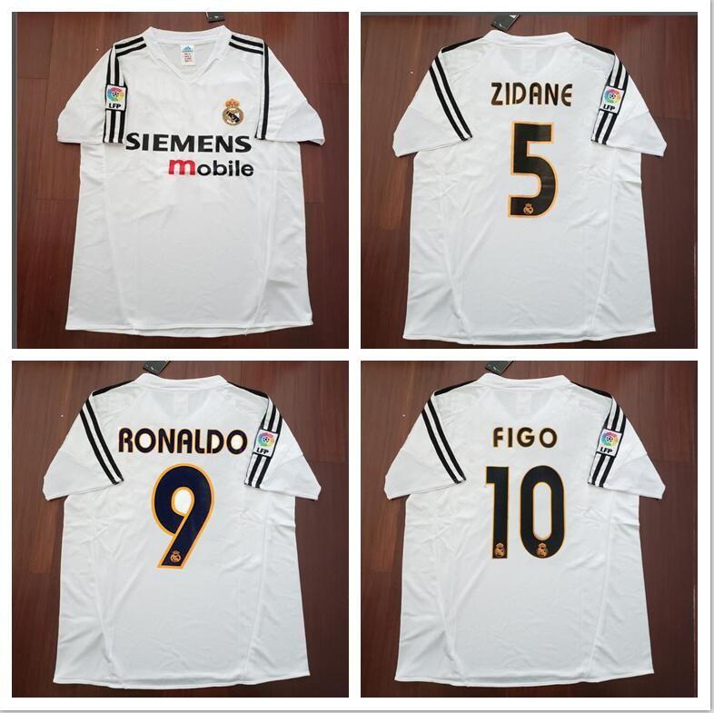 29a653d91ec 2019 04 05 Real Madrid Home Soccer Jersey R.Carlos Zidane Raul Ronaldo Figo  Owen Guti Beckham 2004 2005 Real Madrid Footbal Shirts Soccer Kits From ...