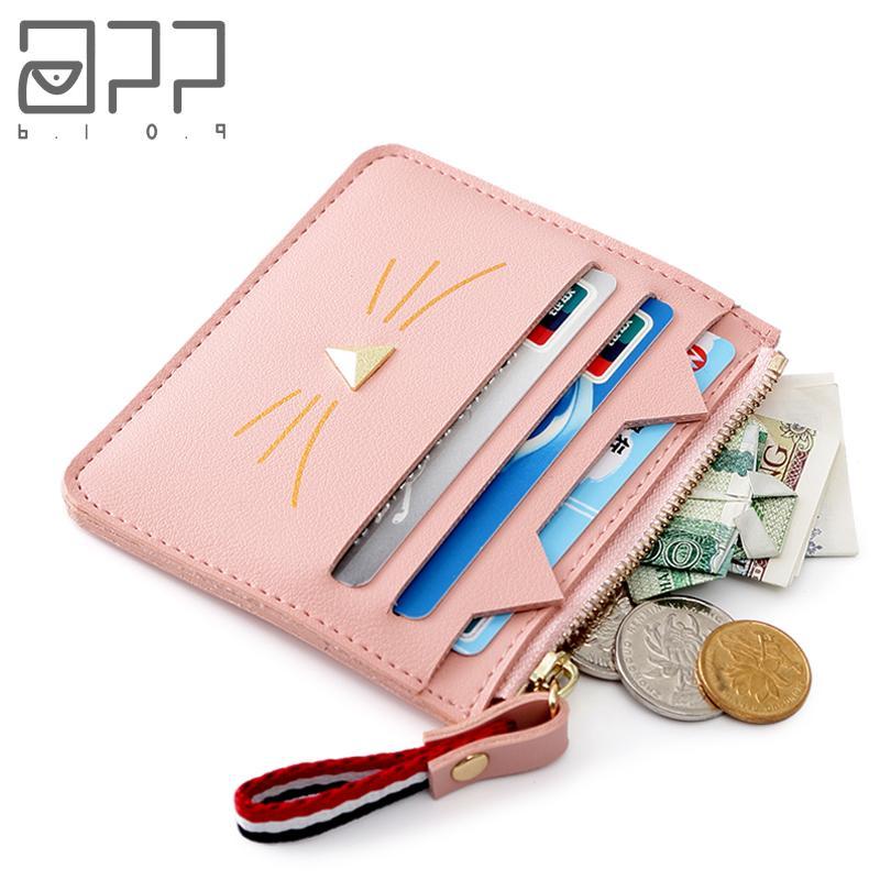app blog brand cute cat women coin purse mini small clutch card holder bags wallet carteira femme feminina mujer girl teenager designer purse backpack - Card Holder App