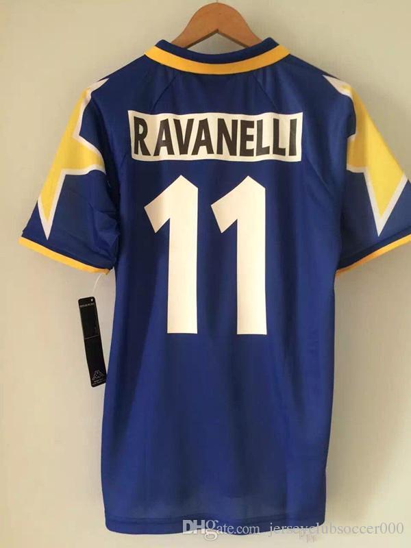 95 96 Del Piero Retro Soccer Jersey Vialli Ravanelli Vintage 1995 1996  Calcio MAGLIA Classic Football Shirts Maillot Camiseta De Futbol Canada  2019 From ... e348c9b29