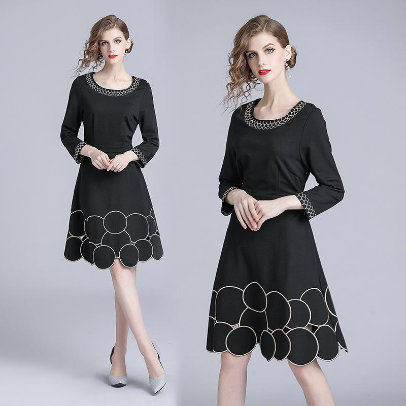 8b73034dcf1e Casual Going Out Dresses High Waist A Line Dress Women Long Sleeve  Embroidery Hollow Out Little Black Dresses Lace Sundresses Dresses Cocktail  Party From ...