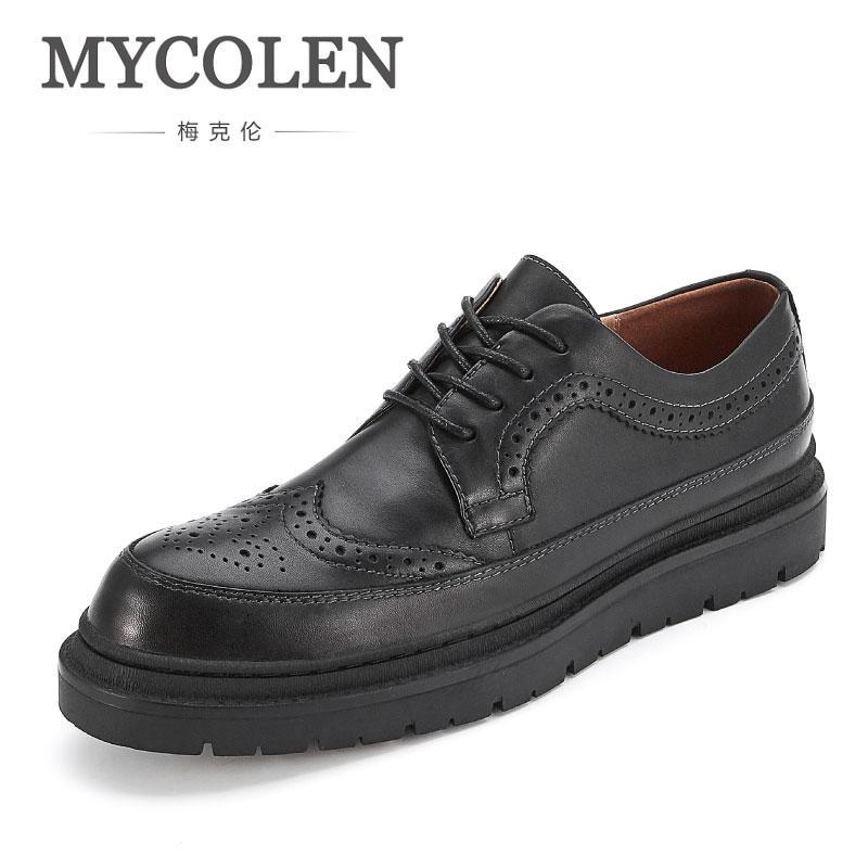579467660 Compre Mycolen Novo Luxo Couro Brogue Mens Sapatos De Luxo Italiano Marca  Casual Estilo Britânico Homens Marca De Moda Vestido Sapatos Masculinos De  ...