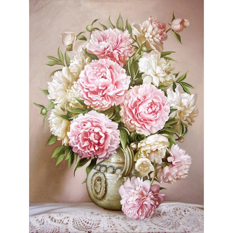 2019 Full Square 5D Diy Diamond Painting Rose Vase Flower Cross Stitch  Embroidery Round Rhinestone Mosaic Decoration 3D Photo Gift From Aiyier 8436f92ad41f