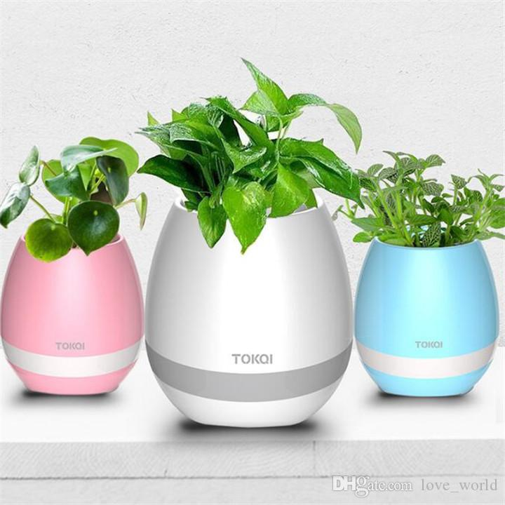Bahçe Mini Müzik Saksı Gece Işık Akıllı Dokunmatik Ekiciler Tencere Lamba Şarj Edilebilir Kablosuz Bluetooth Ekici Çocuklar Için En Iyi Hediye
