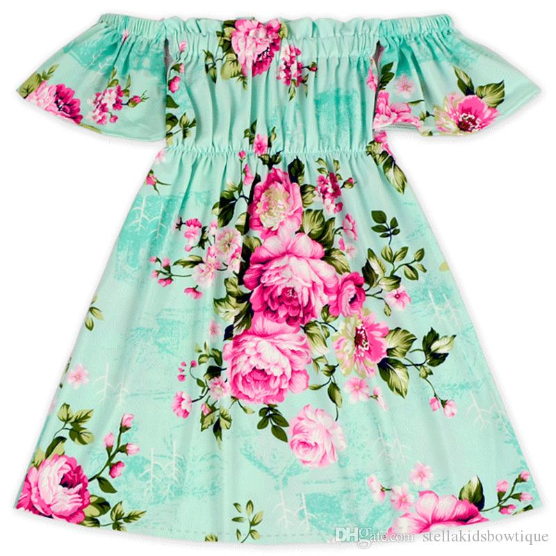 Sincere Kids Baby Girls Summer Clothes Lace Dress Off-shoulder Party Dress Sundress Traveling Women's Bags