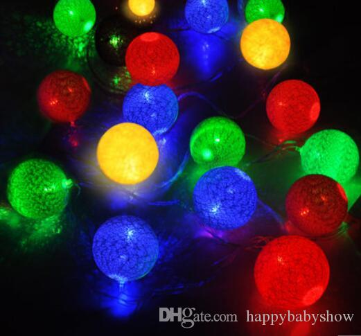 Led Christmas Lights Colors.New Year Rgb 7m 20 Led Ball String Christmas Light Flashing Lights Colorful Party Wedding Decoration Holiday Lights Romatic Lamp G29